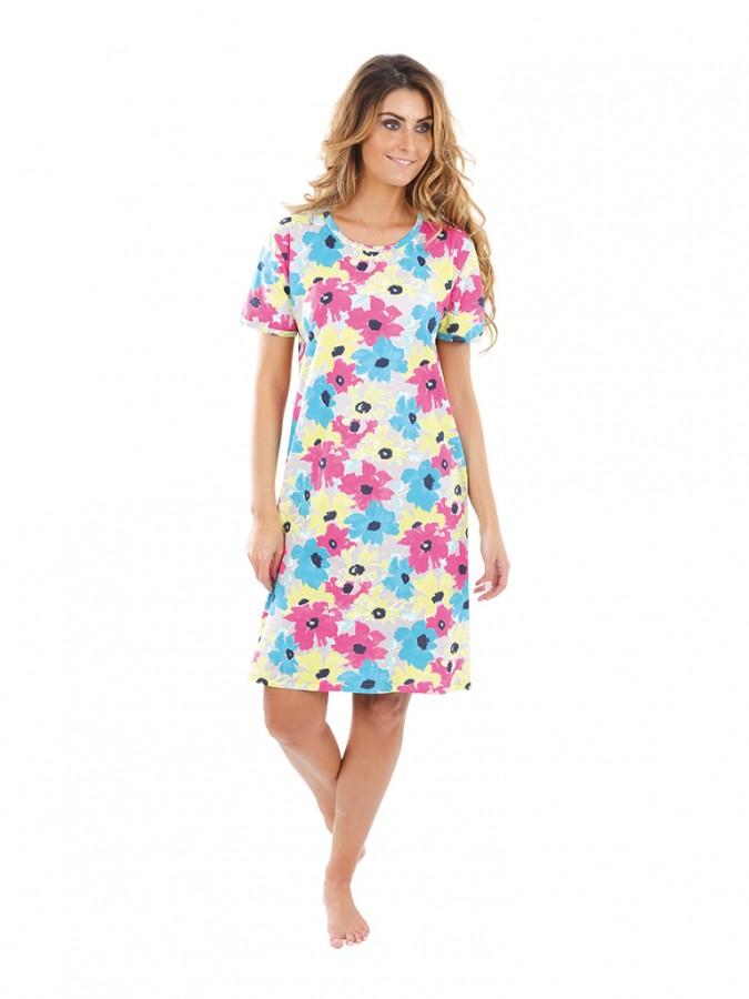 0c886ec7d Dámske šaty KAMILA kvety pestrofarebné | EVONA