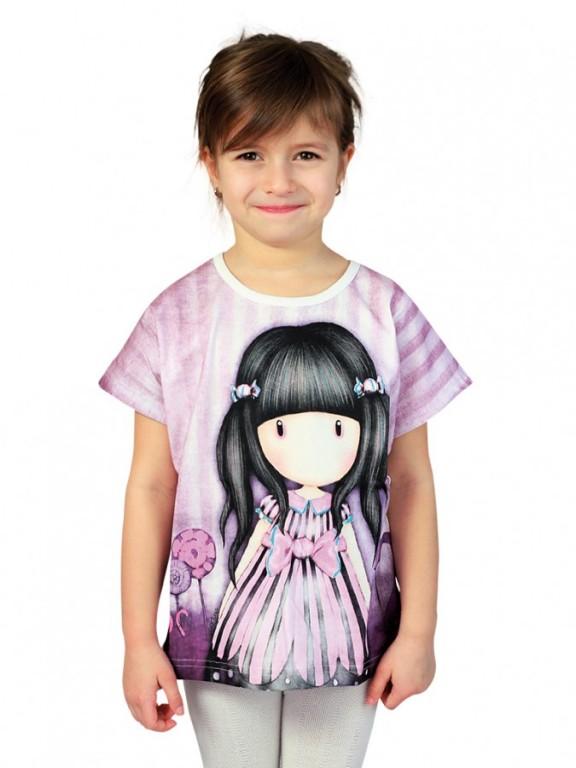 587742137b61 Dievčenské tričko GORJUSS fialové