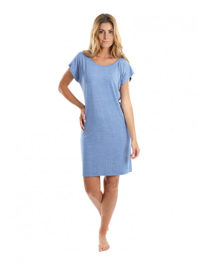 7f87b2a62faf Dámske krátke šaty JEANS svetlé
