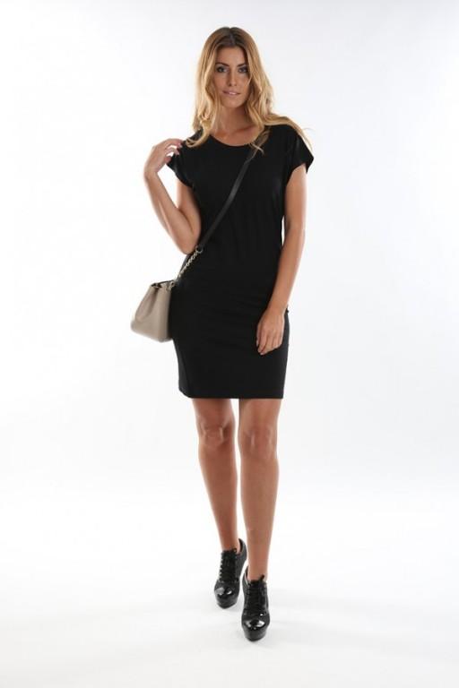 Dámske čierne krátke šaty ffc1f13d60b