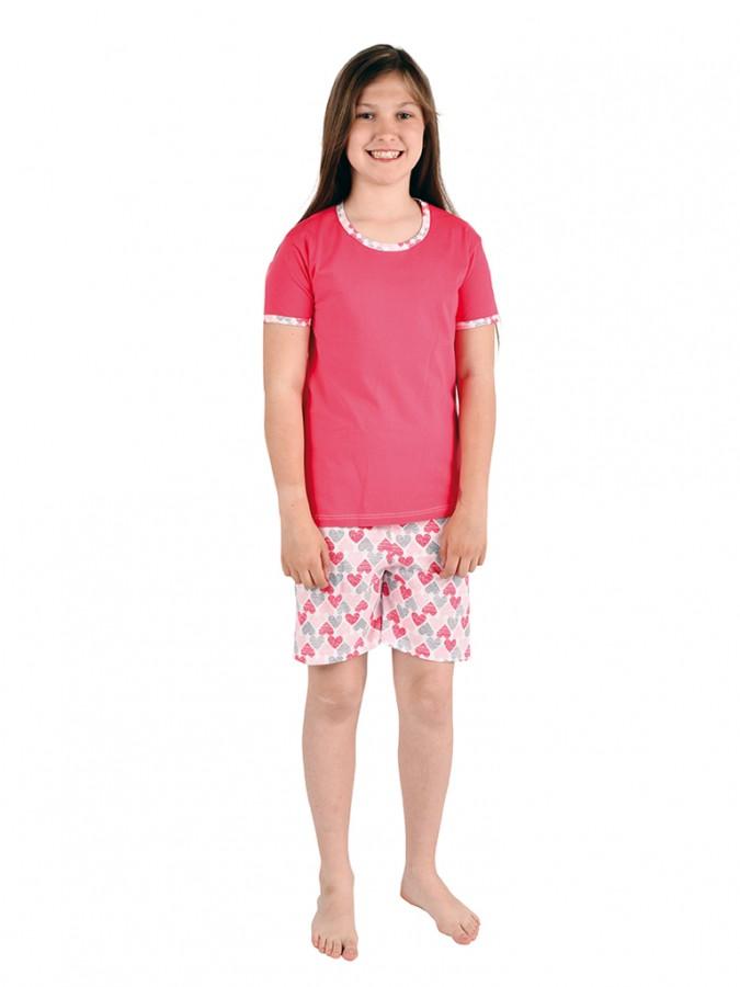 91d8b9477137 Dievčenské pyžamo TAMARA srdiečka