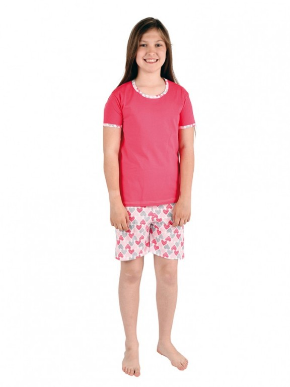 1c3573fb905c Dievčenské pyžamo TAMARA srdiečka
