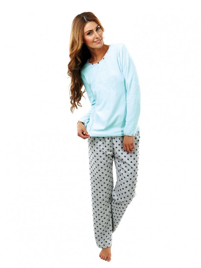 6a41ce3ca Dámske froté pyžamo P 1422 zelené | EVONA