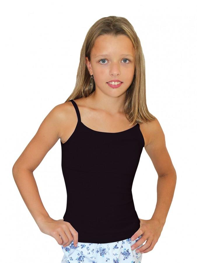 996a63009db0 Dievčenská elastická košieľka 7004 čierna