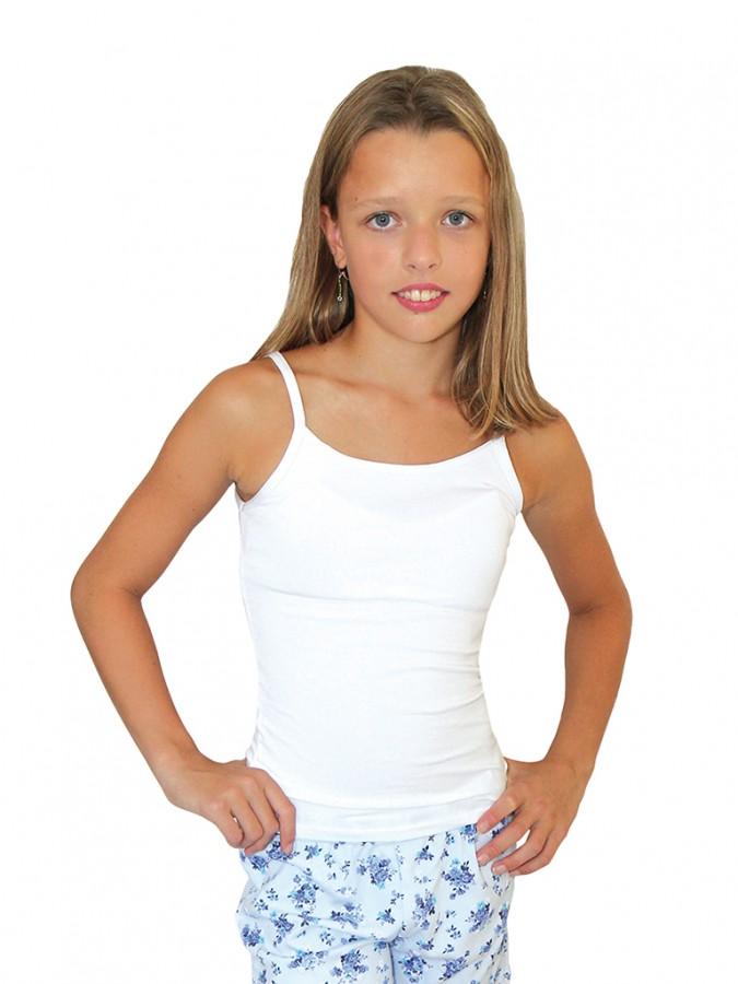 1d5994e99ca9 Dievčenská elastická košieľka 7004 biela