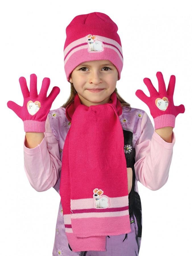 6bf4ad246 Dievčenská súprava čiapky, šály a rukavíc   EVONA