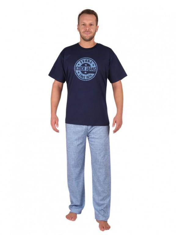 a8887262c Pánske pyžamo JEANS 1879 svetlé