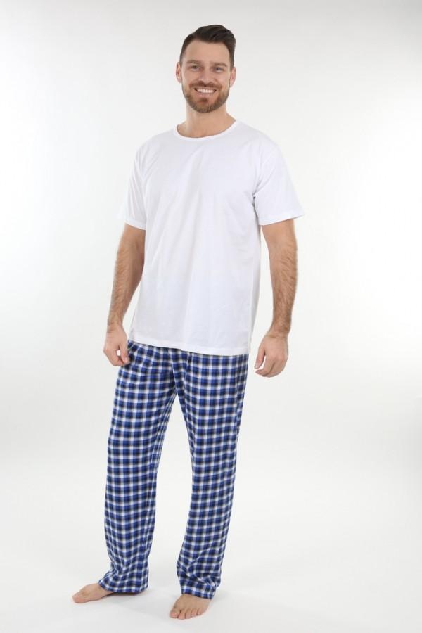 6d3dc9fcdb18 Pánske pyžamové nohavice P1419 modrá kocka
